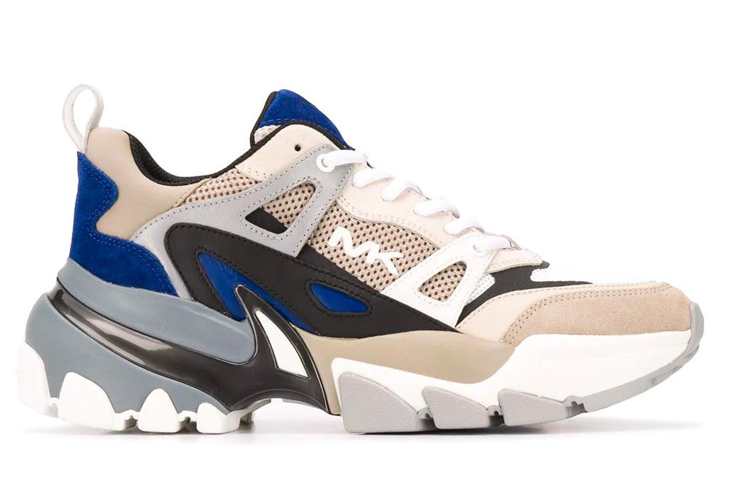 chunky sneakers, blue, michael kors