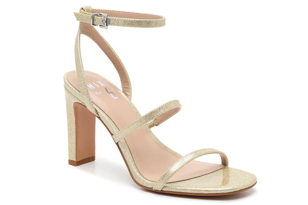 gold heels, sandals, mix no 6