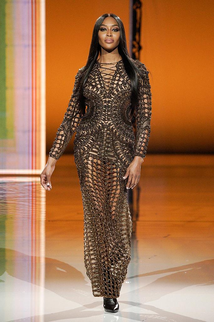 Naomi Campbell, Balmain, Paris Fashion Week