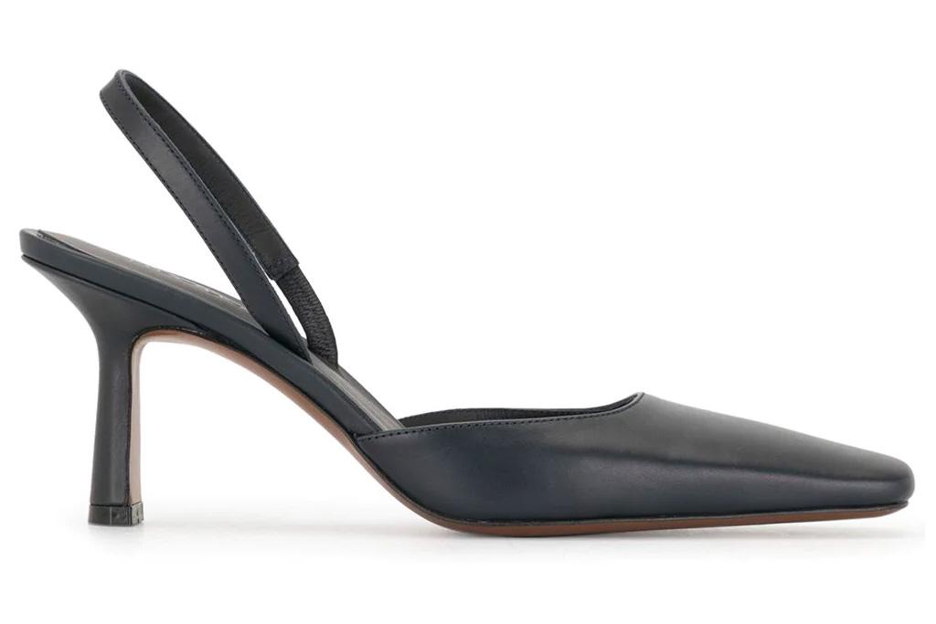 black pumps, square toe, neous