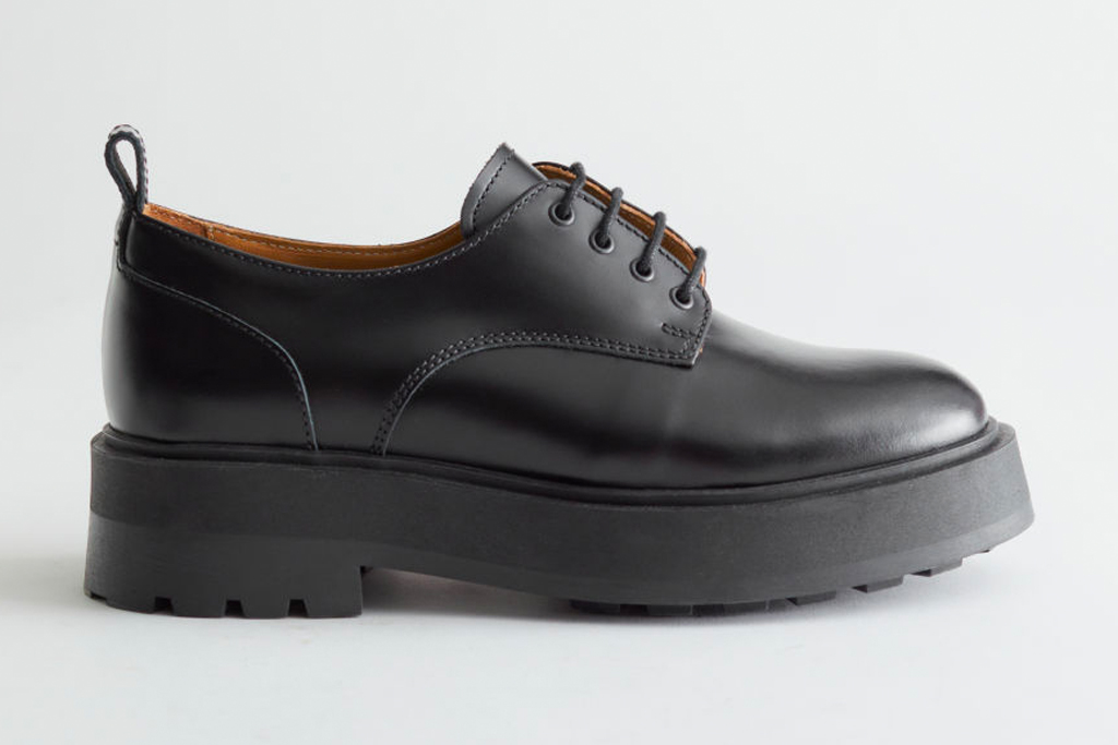 black brogues, platform shoes, leather, other storiess