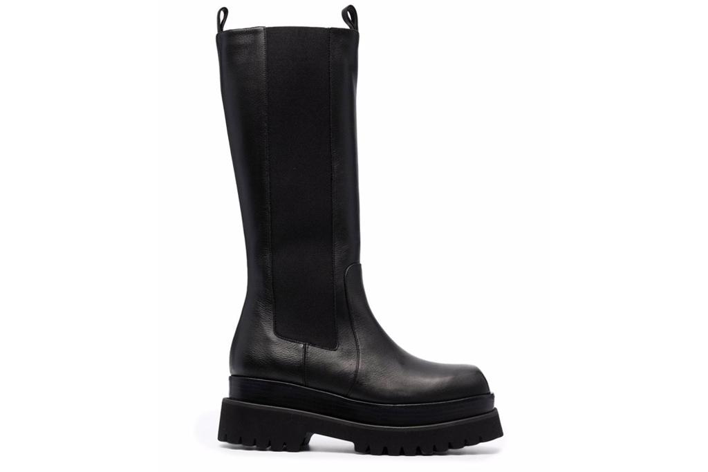 black boots, leather, chunky, paloma