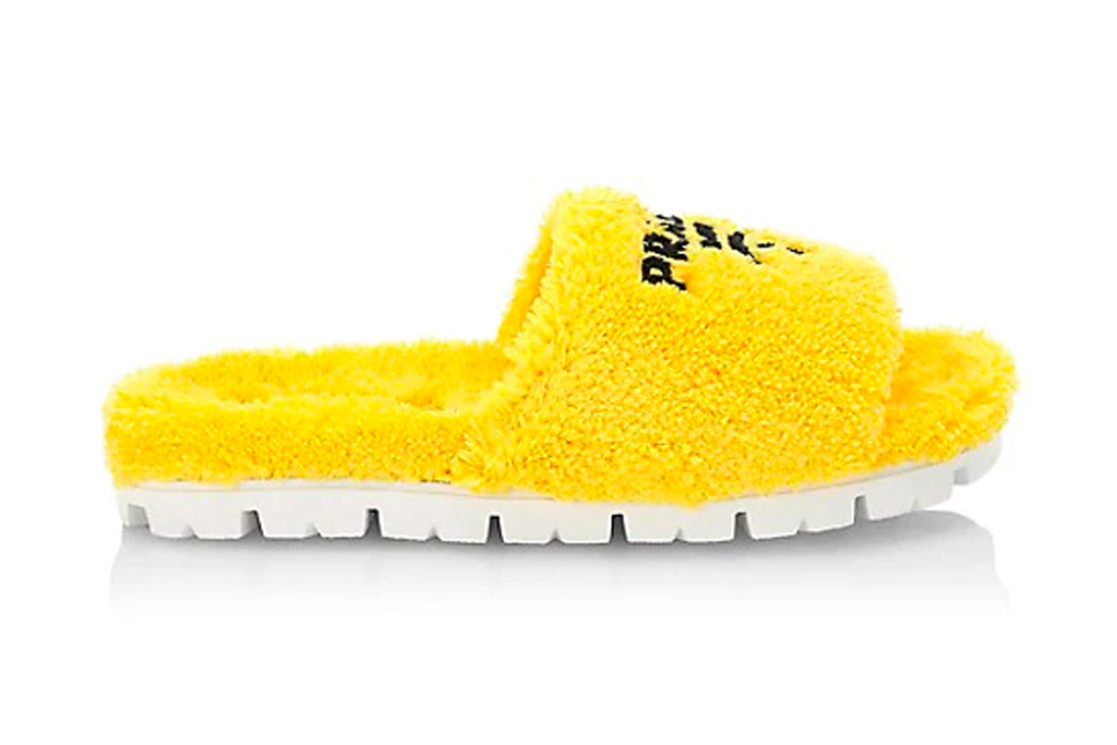prada, slides, yellow