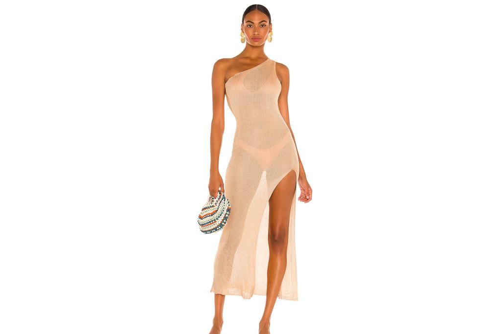 fishnet dress, nude, tan, revolve