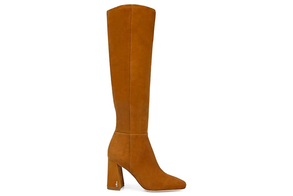 brown boots, knee high, sam edelman