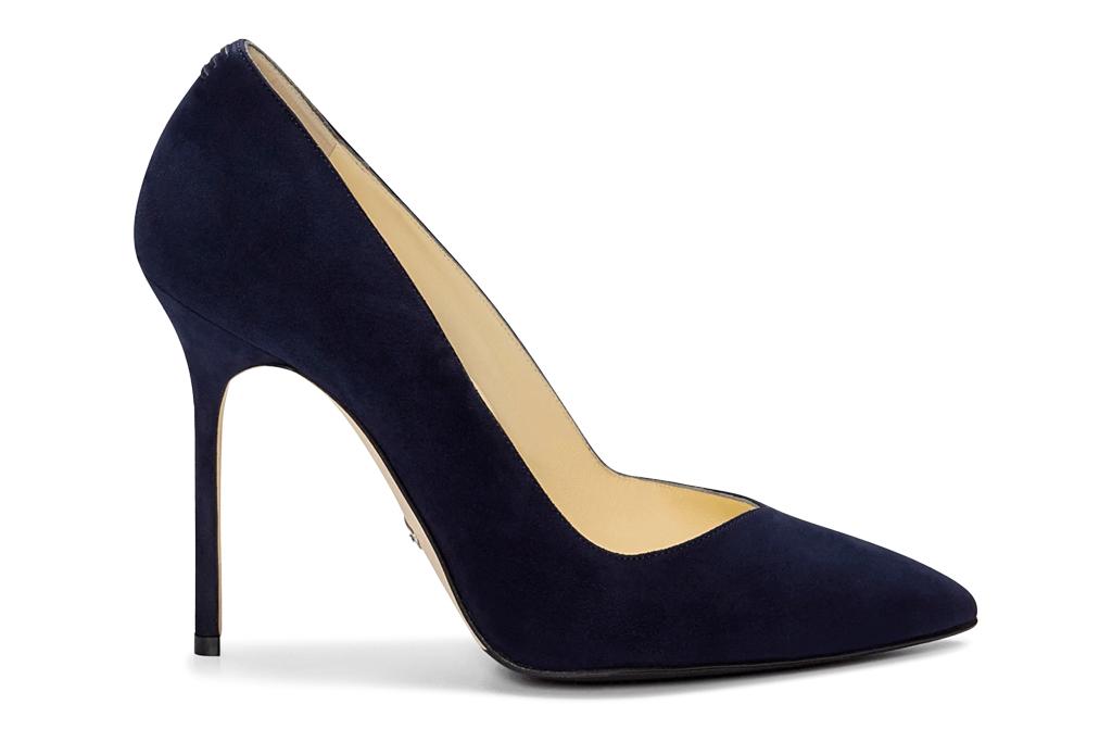 navy pumps, heels, sarah flint