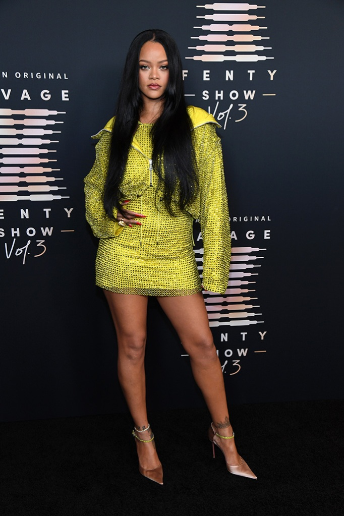 LOS ANGELES, CALIFORNIA - SEPTEMBER 22: In this image released on September 22, Rihanna attends Rihanna's Savage X Fenty Show Vol. 3 presented by Amazon Prime Video at The Westin Bonaventure Hotel & Suites in Los Angeles, California; and broadcast on September 24, 2021. (Photo by Kevin Mazur/Getty Images for Rihanna's Savage X Fenty Show Vol. 3 Presented by Amazon Prime Video)