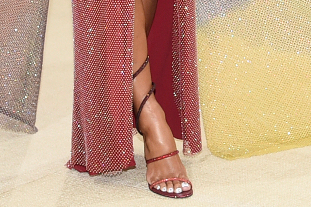 saweetie, cutout dress, gown, heels, sandals, hair, met gala