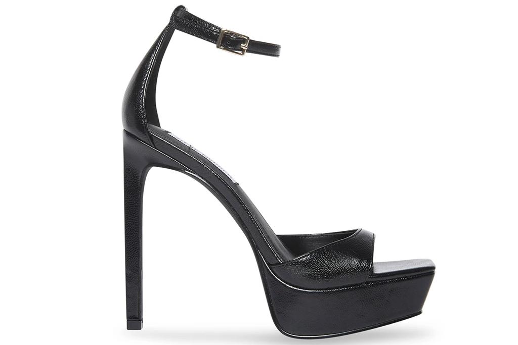 platform sandals, black heels, steve madden