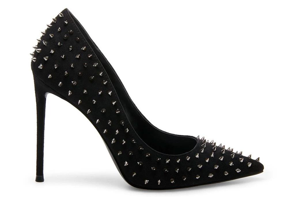 black sandals, heels, studded, steve madden