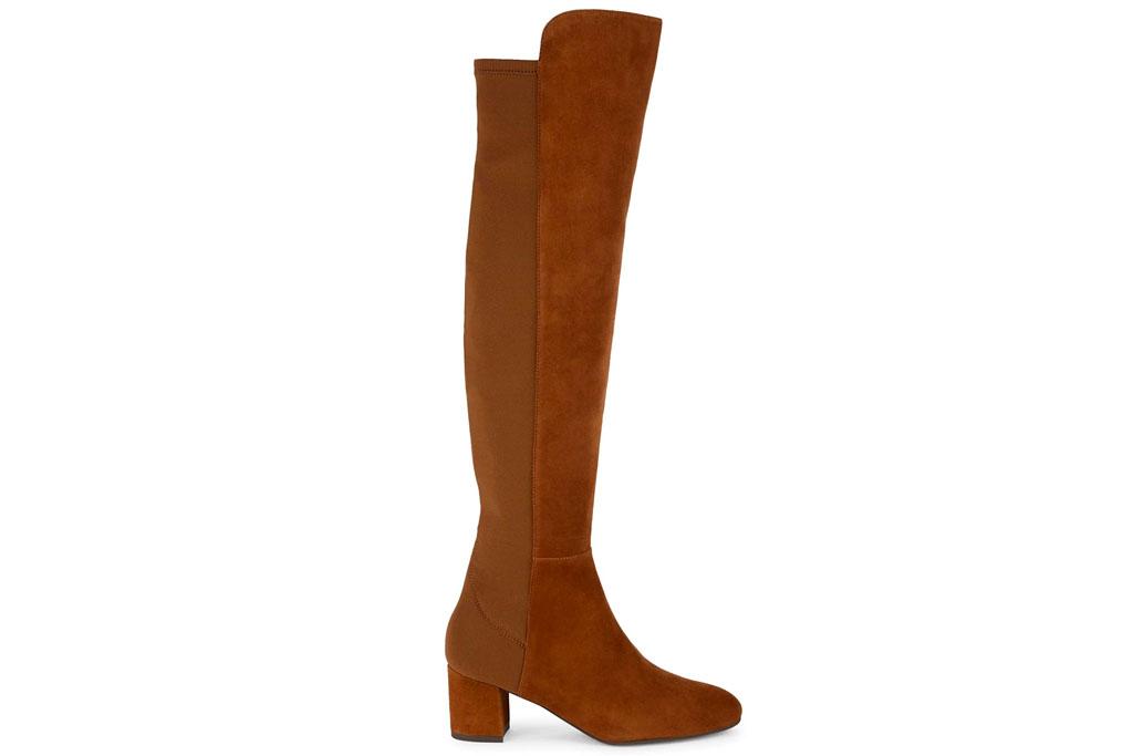 brown boots, knee high, stuart weitzman