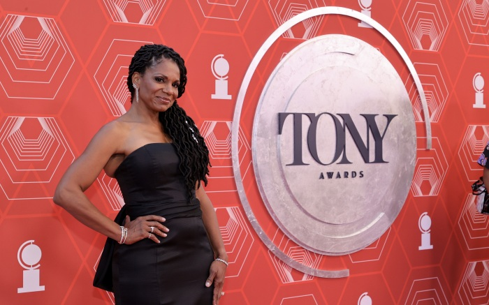 NEW YORK, NEW YORK - SEPTEMBER 26: Audra McDonald attends the 74th Annual Tony Awards at Winter Garden Theater on September 26, 2021 in New York City. (Photo by Jamie McCarthy/Getty Images for Tony Awards Productions)