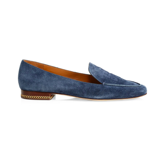 Tory Burch Ruby Suede Logo Loafer