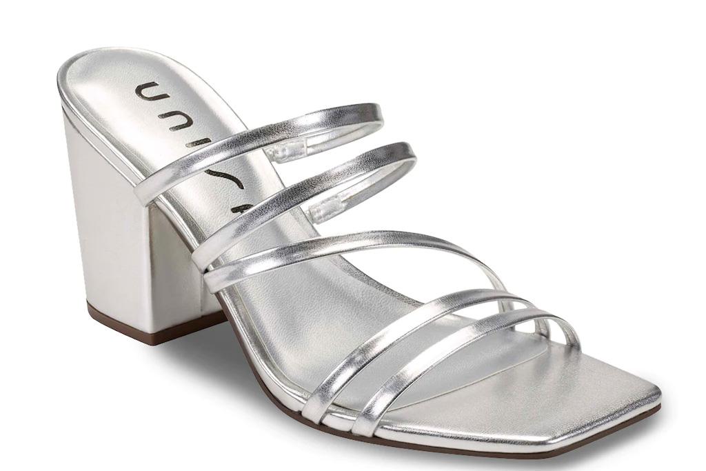 silver sandals, unisa