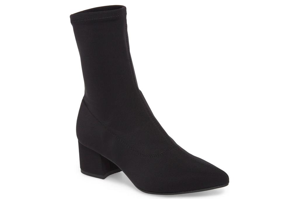 black boots, booties, sock style, vagabond