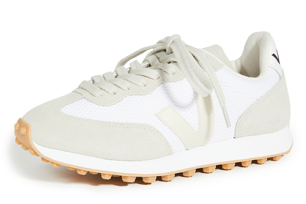 gray sneakers, white, veja