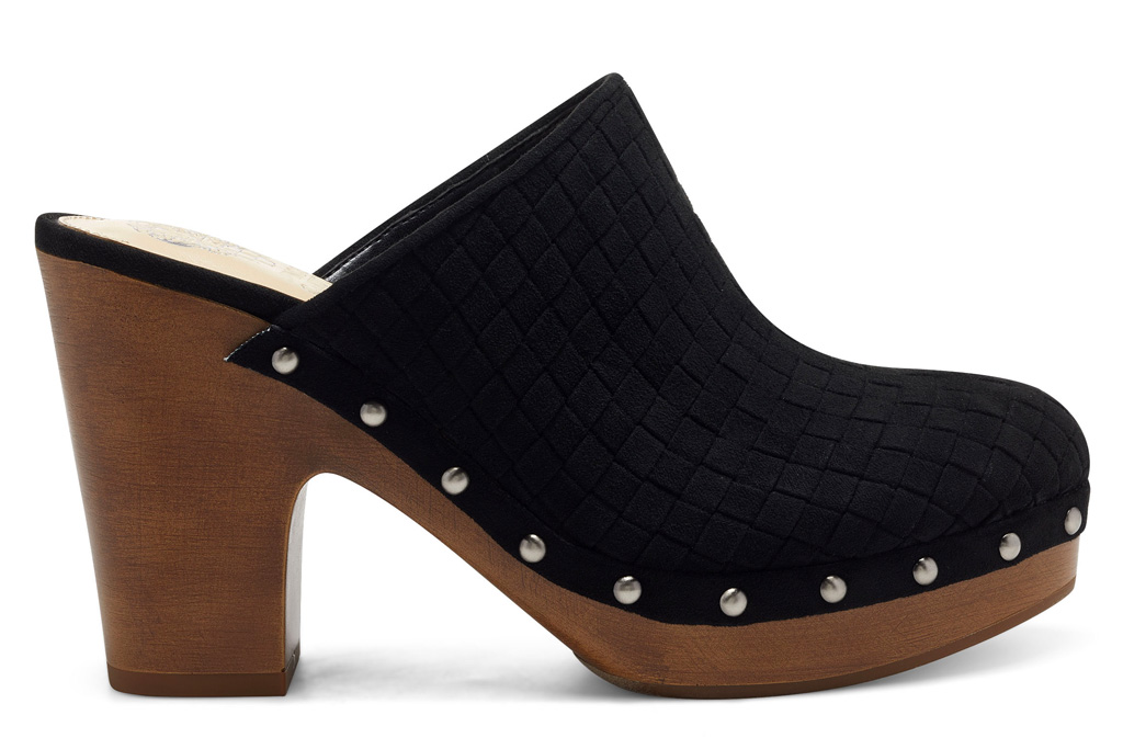 clogs, leather, wood, vince camuto