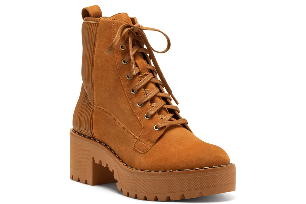 brown boots, suede, combat, vince camutuo