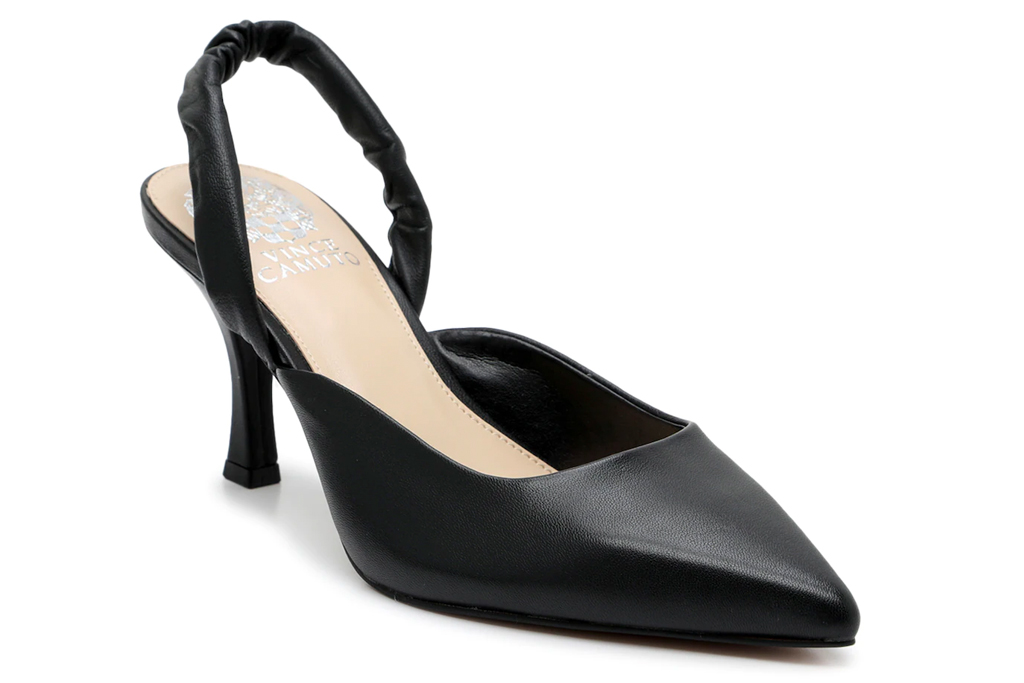 black pumps, slingback, heels, vince camuto