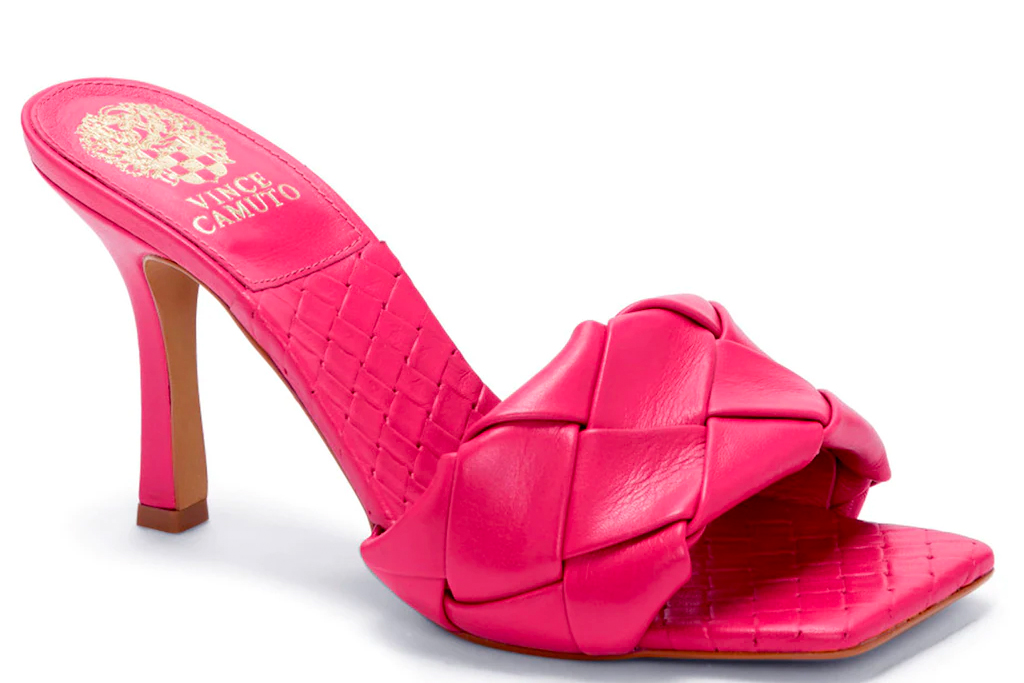 pink mules, vince camuto