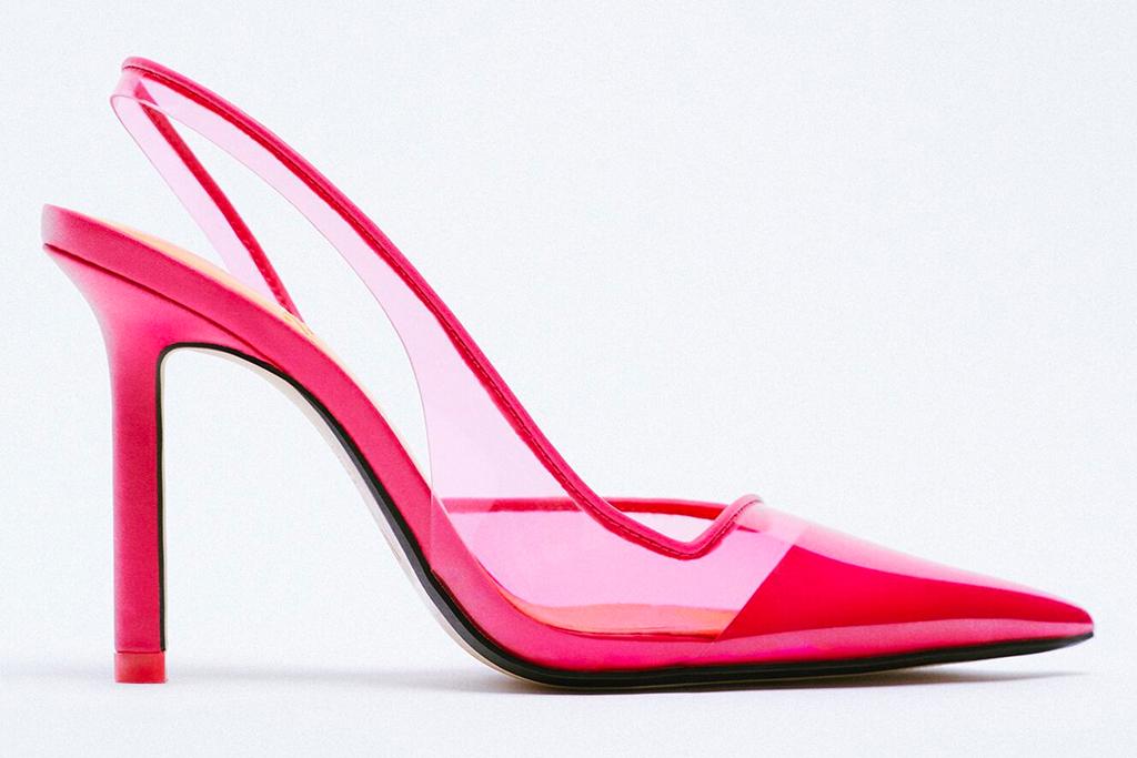 pink heels, sandals, pumps, zara