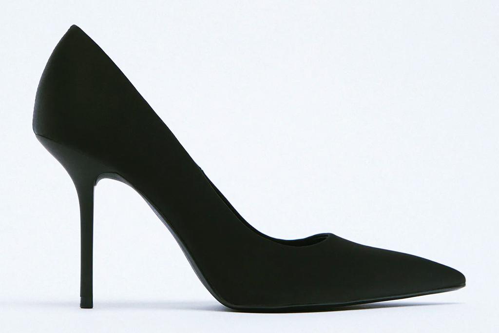black pumps, pointed-toe heels, zara