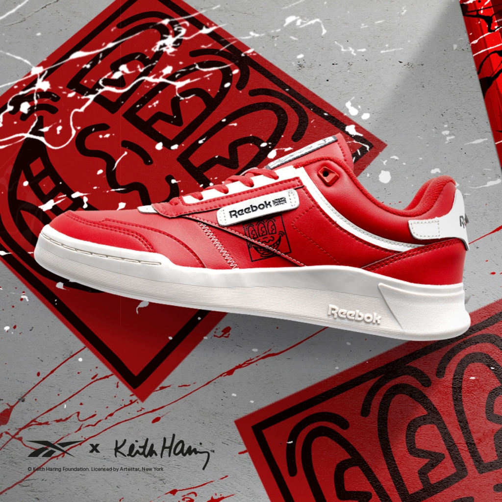 reebok keith harring collection sneakers