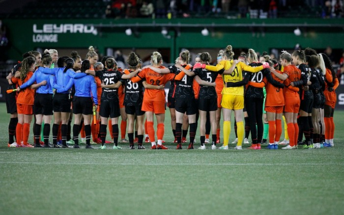 NWSL moment of silence