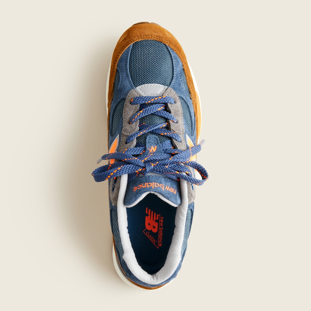 top view New Balance x J.Crew 992 NY Sneaker