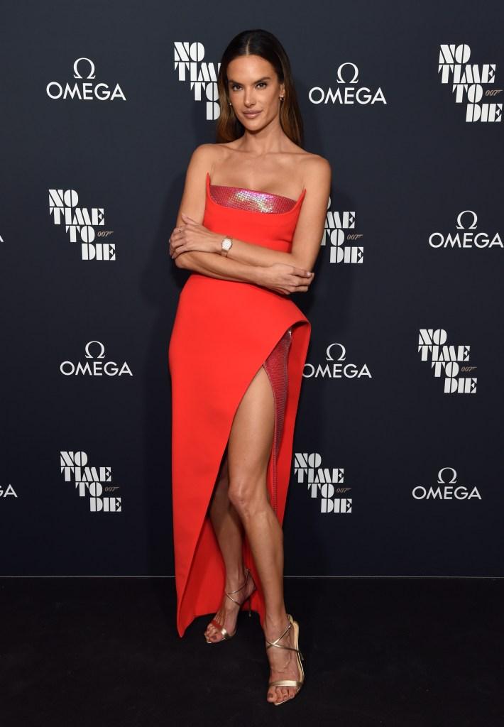 Alessandra Ambrosio, No Time to Die, James Bond, Richard Lee, Noah Phoenix Ambrosio Mazur, screening, film premiere