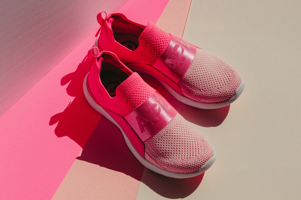 apl tech bliss, breast cancer awareness month, pink sneakers