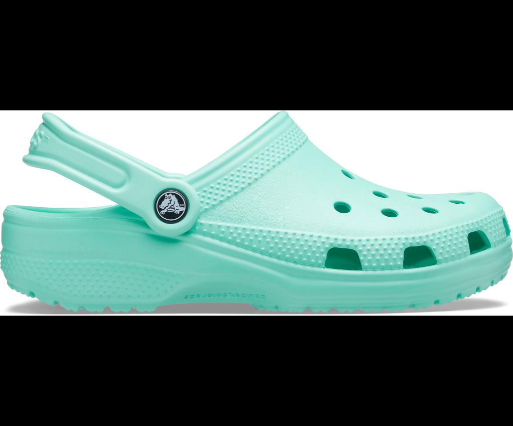 Crocs, green clogs, foam clogs, 'ugly' shoes