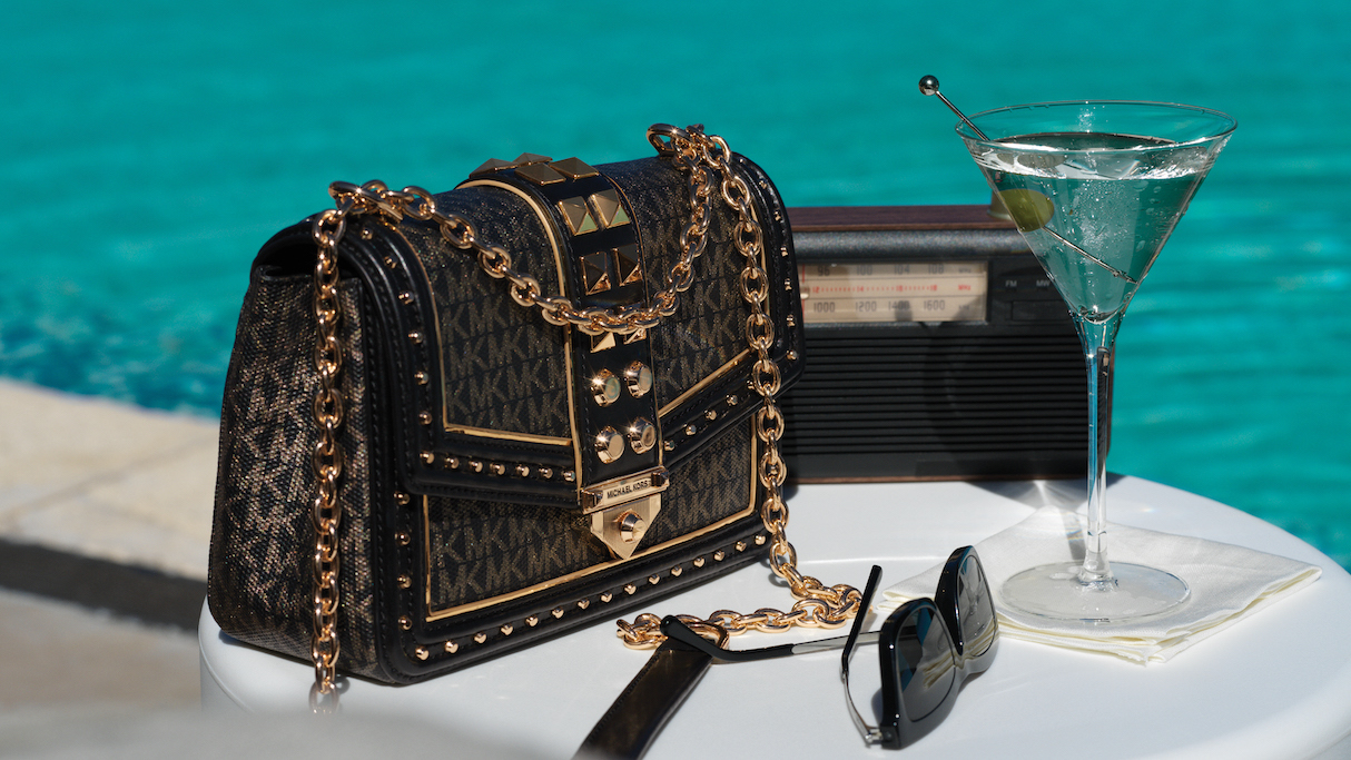 The shoulder bag from the MICHAEL Michael Kors x 007 collection.