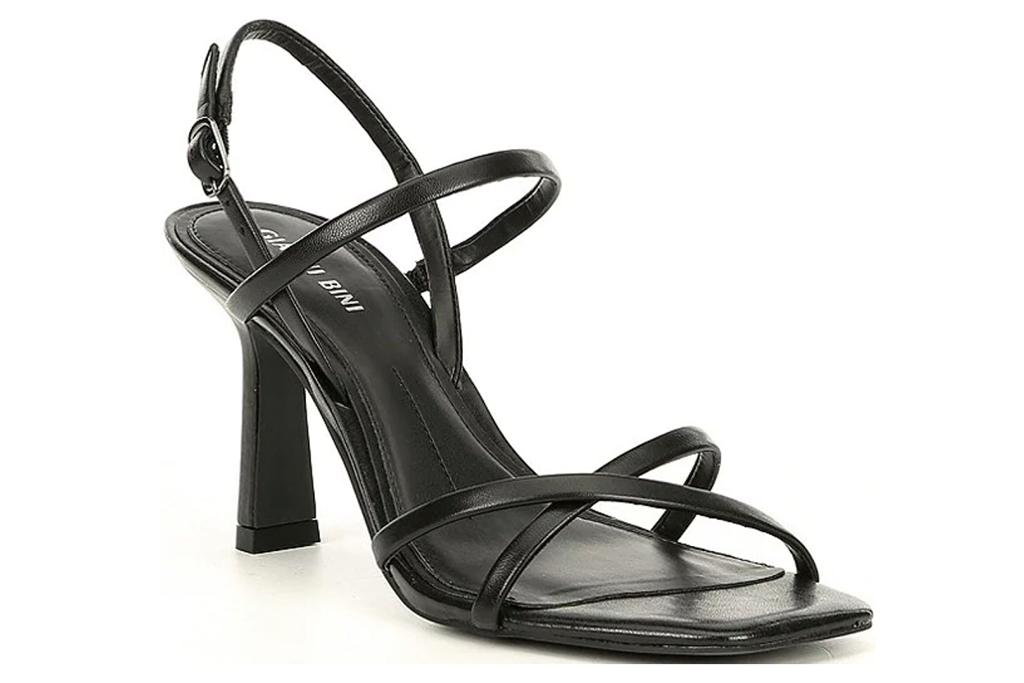 Gianni Bini Neveena Leather Square Toe Strappy Dress Sandals