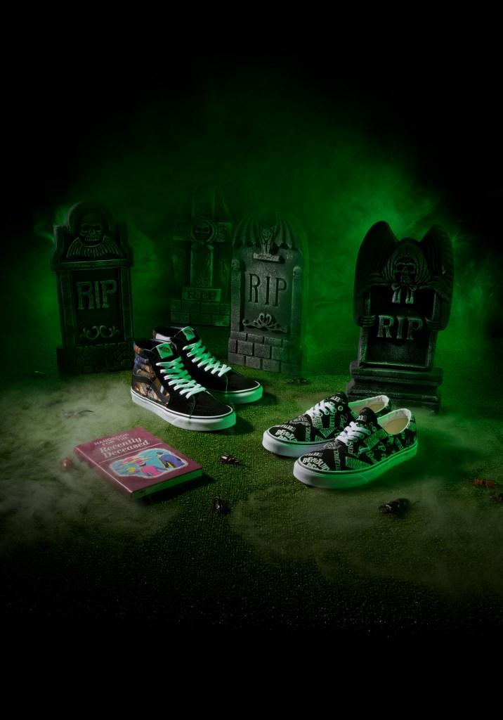Vans, Halloween Collection, Beetlejuice, sneakers, high-top sneakers, low-top sneakers, slip-on sneakers