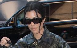 Kourtney Kardashian, platform boots, black boots,