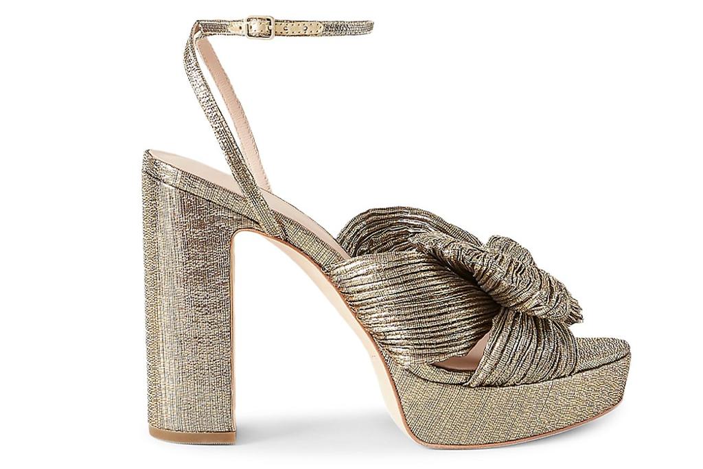 Loeffler Randall Natalia Pleated Platform Sandals