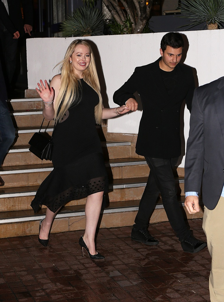 Tiffany Trump, Cannes Film Festival, Cannes, black dress, black pumps, pointed-toe pumps, glitter pumps