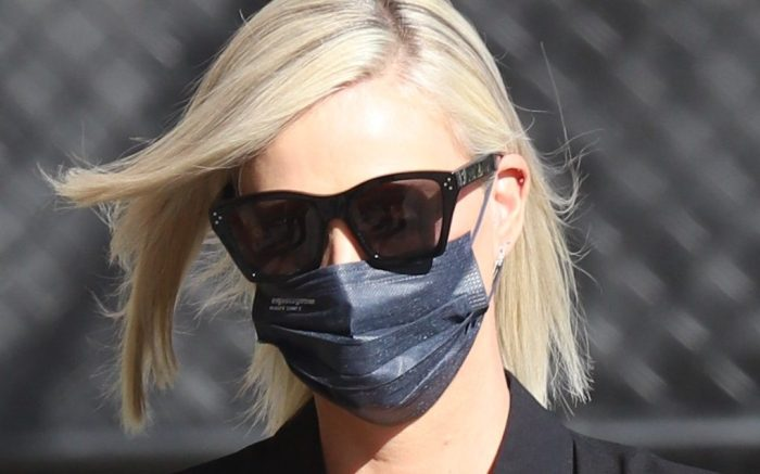 Charlize Theron seen heading into Jimmy Kimmel