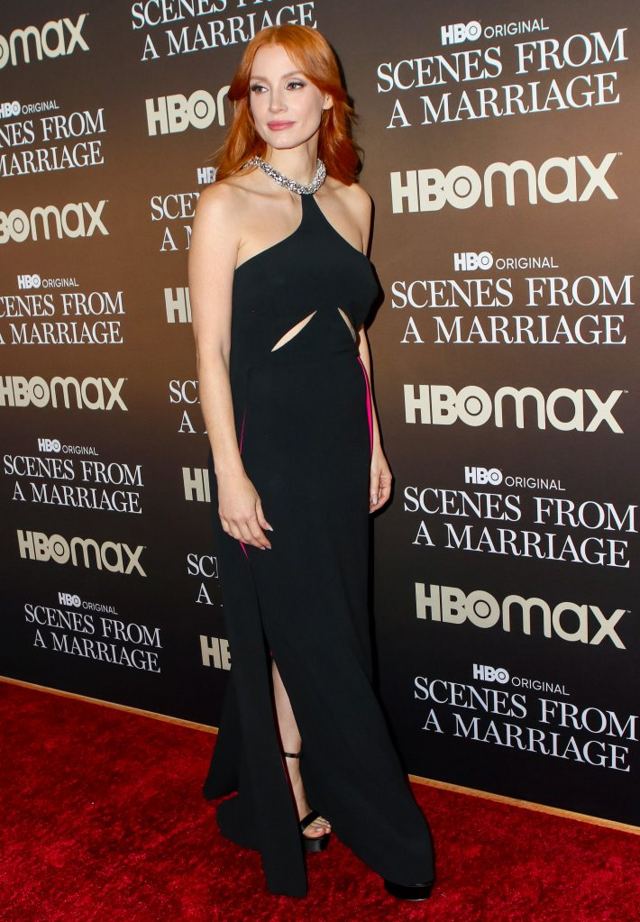 Jessica Chastain in Stella McCartney at Scenes From A Marriage Finale Premiere
