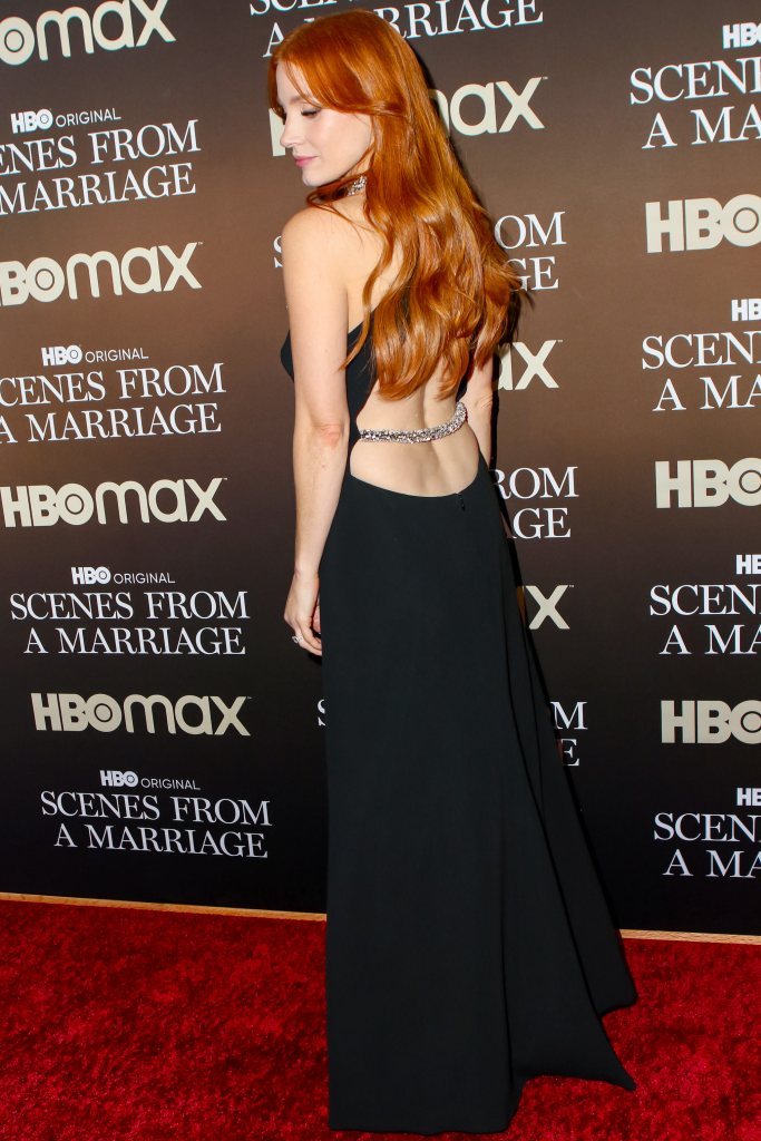 Jessica Chastain in Stella McCartney at 'Scenes From A Marriage' Finale Premiere