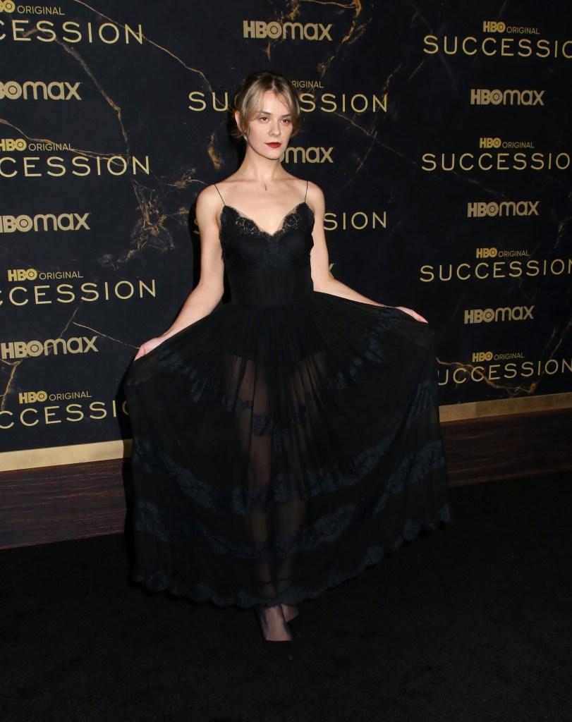 Dasha Nekrasova attends Succession Season 3 premiere in semi-sheer black gown