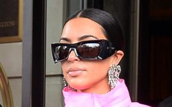 Kim Kardashian and Kanye West leaving