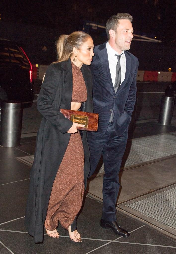Jennifer Lopez, Ben Affleck, Herve Leger, Femme LA, The Last Duel, Tom Ford, Jennifer Fisher, red carpet, movie premiere, New York City