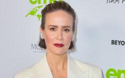 Sarah Paulson, Magda Butrym, white suit,