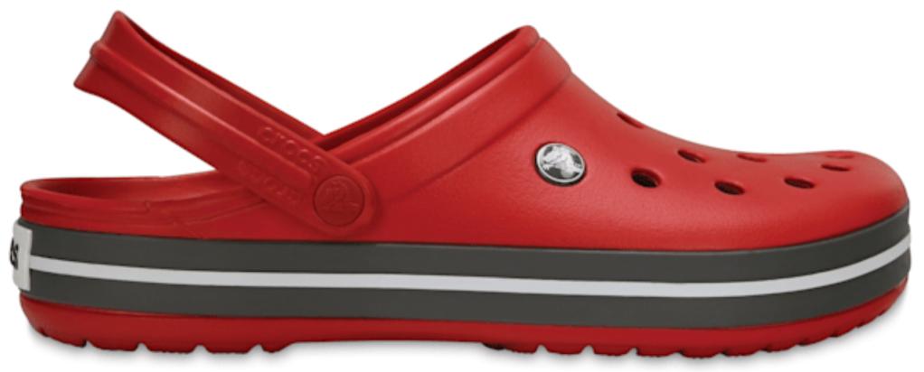 Crocs, red clogs, foam clogs, 'ugly' shoes