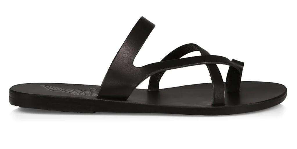 Ancient Greek Sandals, toe loop sandals, big toe sandals, black sandals, strappy sandals, flat sandals
