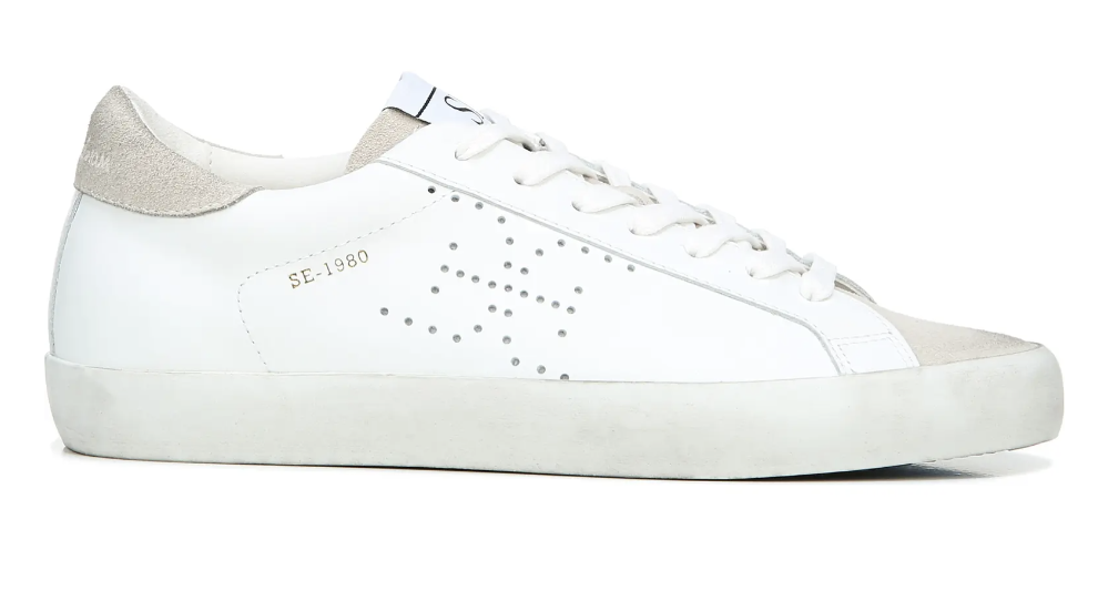 Sam Edelman, white sneakers, low-top sneakers, lace-up sneakers