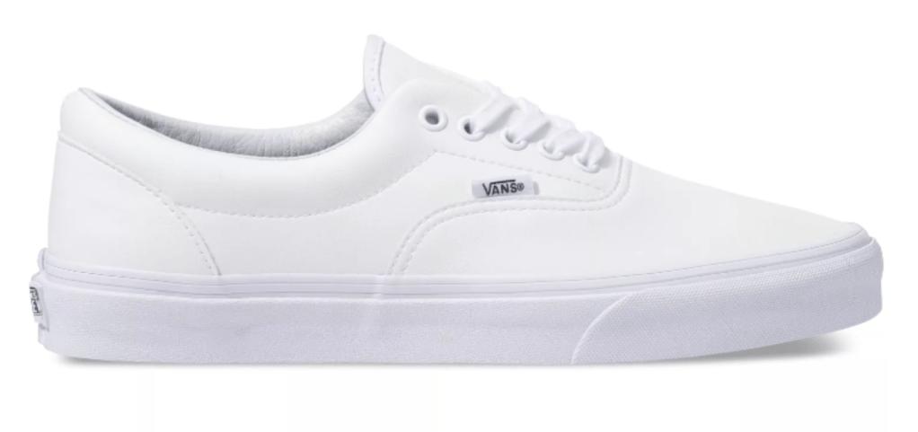 Vans, white sneakers, low-top sneakers, lace-up sneakers