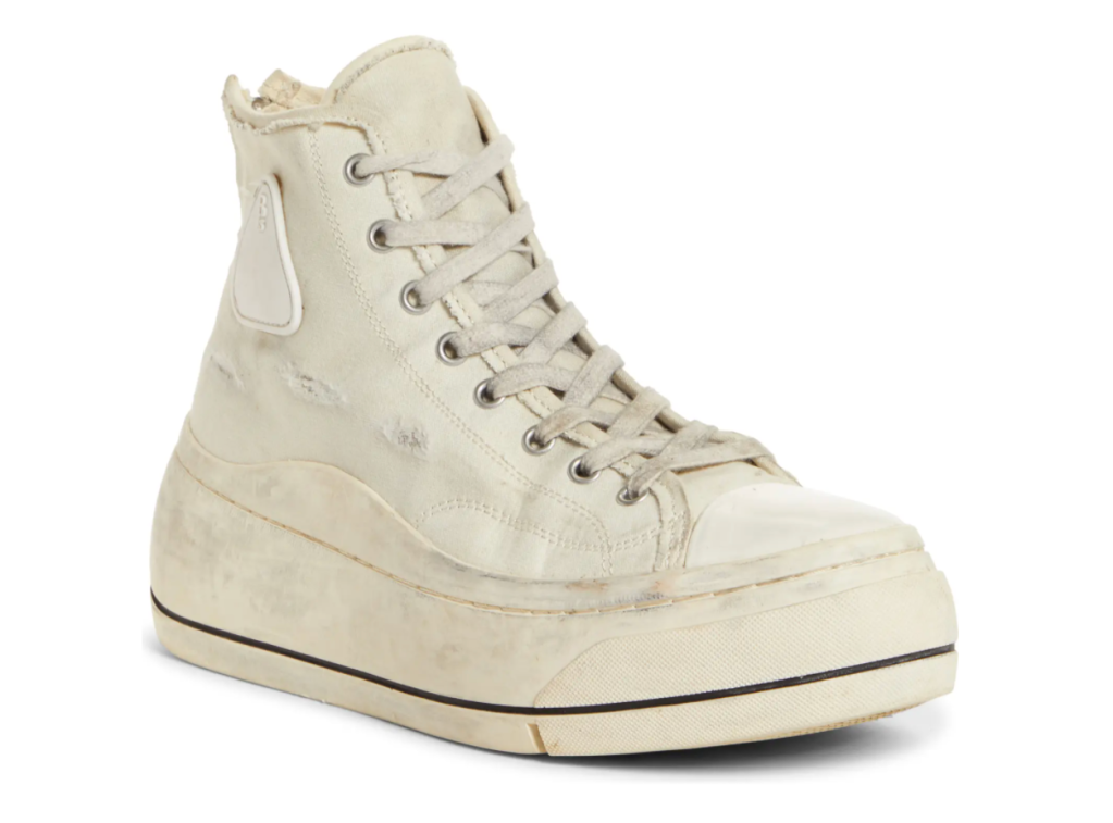 canvas sneakers, high top, r13